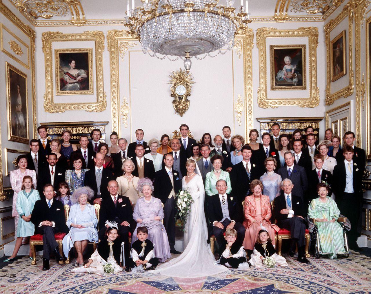1999 Prince Edward, Earl of Wessex marries Sophie Rhys