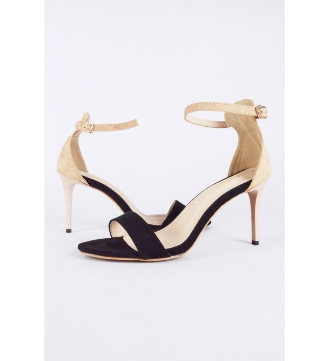 b6b975612acf Lovemystyle Suede Rounded Strap Barely There Heels