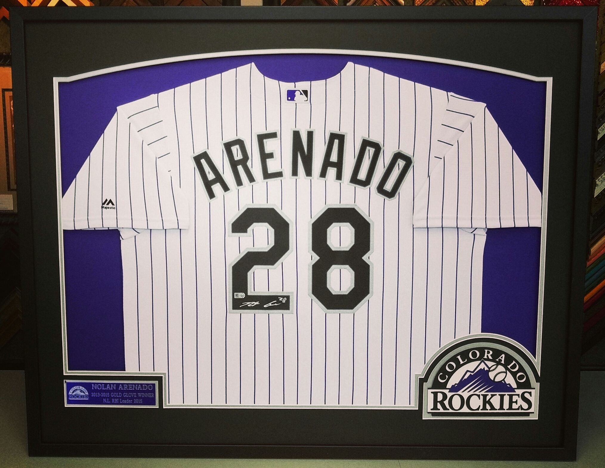 Football may have started but we\'re still framing @coloradorockies ...
