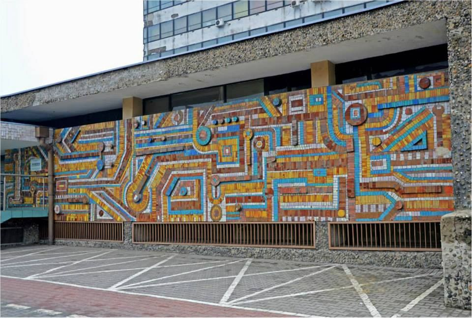 Poland, mid century modern mosaic
