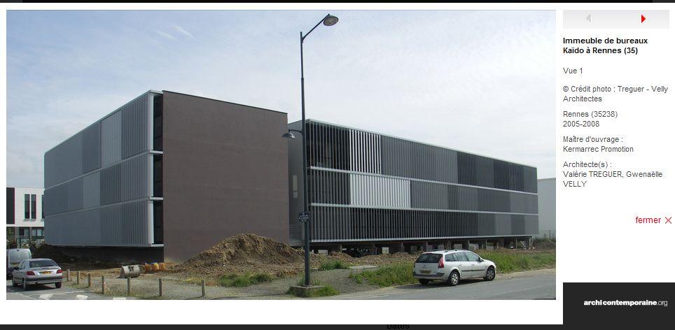 immeuble de bureau Kaido, Rennes architecture Pinterest Rennes - Exemple De Facade De Maison