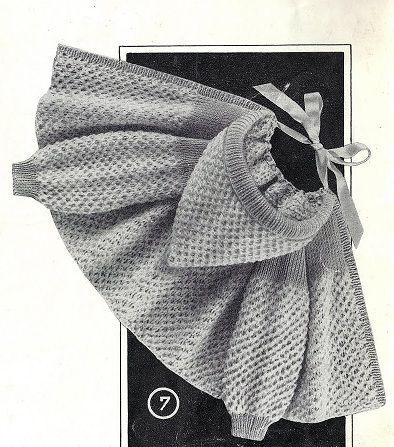 POUR OBTENIR LES EXPLICATIONS CLIQUER SUR LE LIEN SUIVANT: Manteau à capuchon Extrait: tricotons sa layette N°47 de 1959 par La malle ô trésor de Sylvie