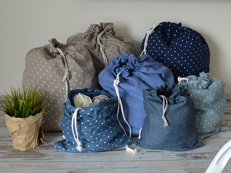 Eco Storage Bag 100 Linen Bags Laundry Linen Bag Large Storage Bag Linen Laundry Bag Drawstring Linen Bag Laundry Bag Bag Storage