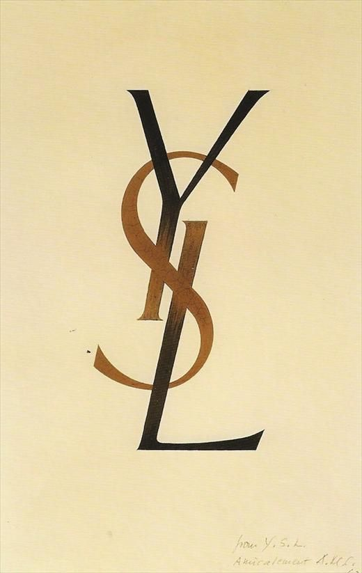 """""""YSL"""" logo designed by  Adolphe Mouron Cassandre (1961)."""
