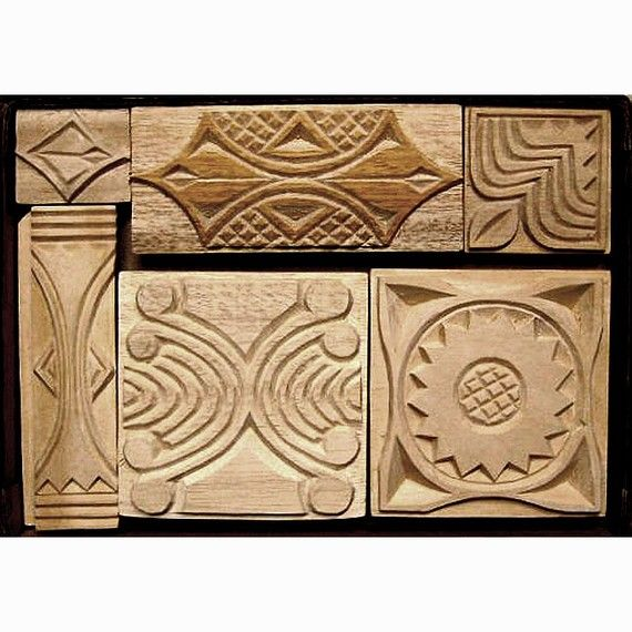 Oshiwa carved wood printing stamp set pinterest