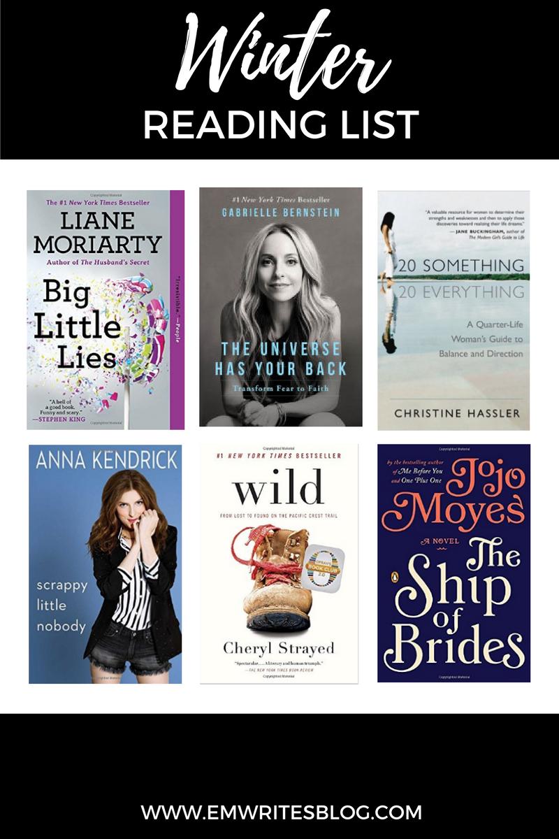 My Winter Reading List | www.emwritesblog.com