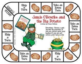 FUN game to go with the book Jamie O'Rourke and the Big Potato by Tomie DePaola