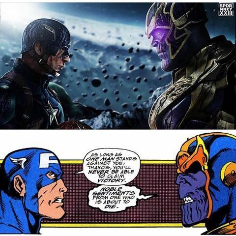 Literally, my heart stopped when I saw this image and read it. If Thanos kills Steve, I will riot