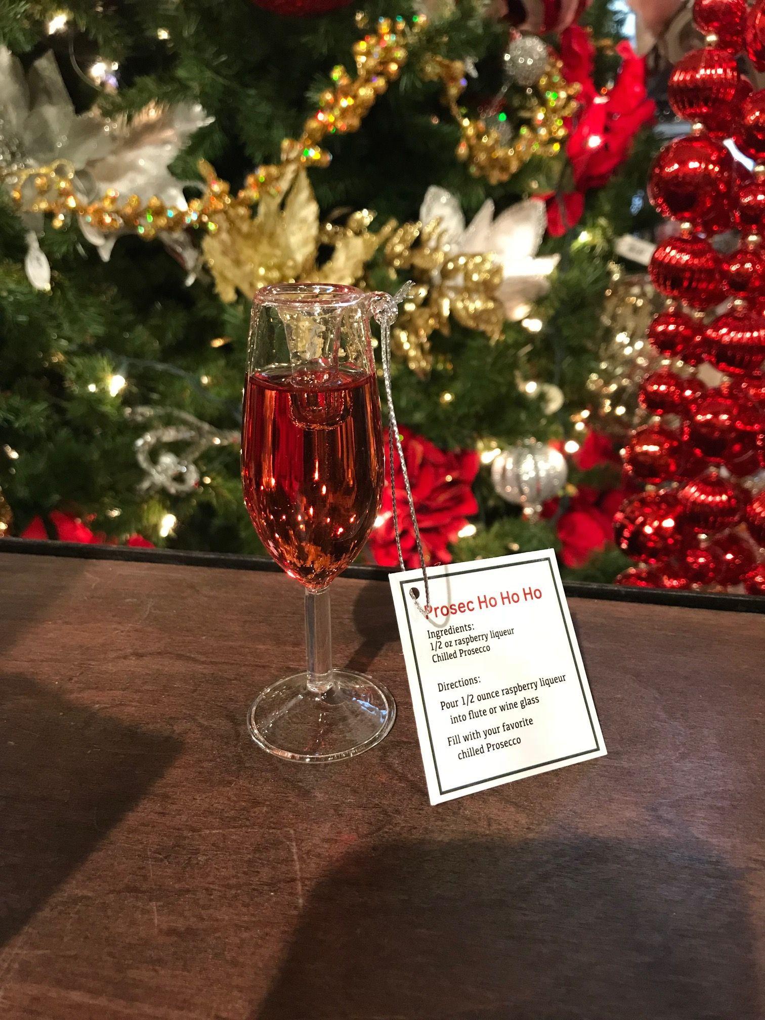Pin By Kremp Florist On Tis The Season Glass Ornaments Prosecco Christmas Tree Ornaments