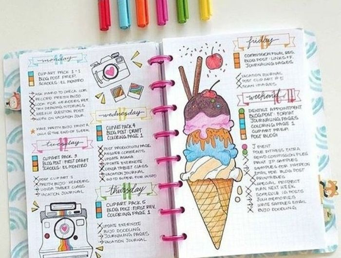 comment organiser et customiser son agenda - 62 idées diy | sons