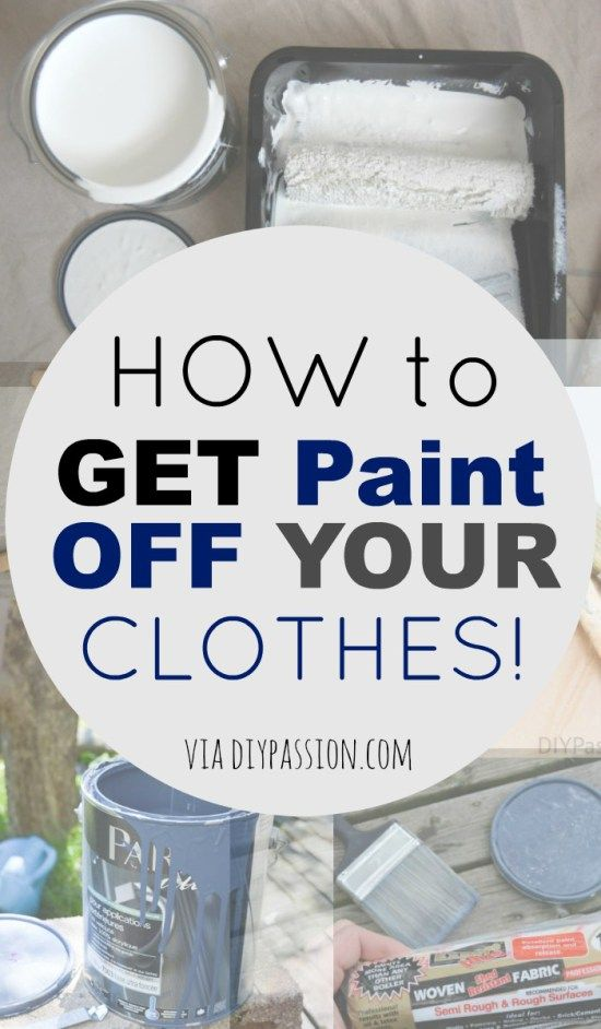 How To Get Paint Off Your Clothes Vinegar Useful Things Remove