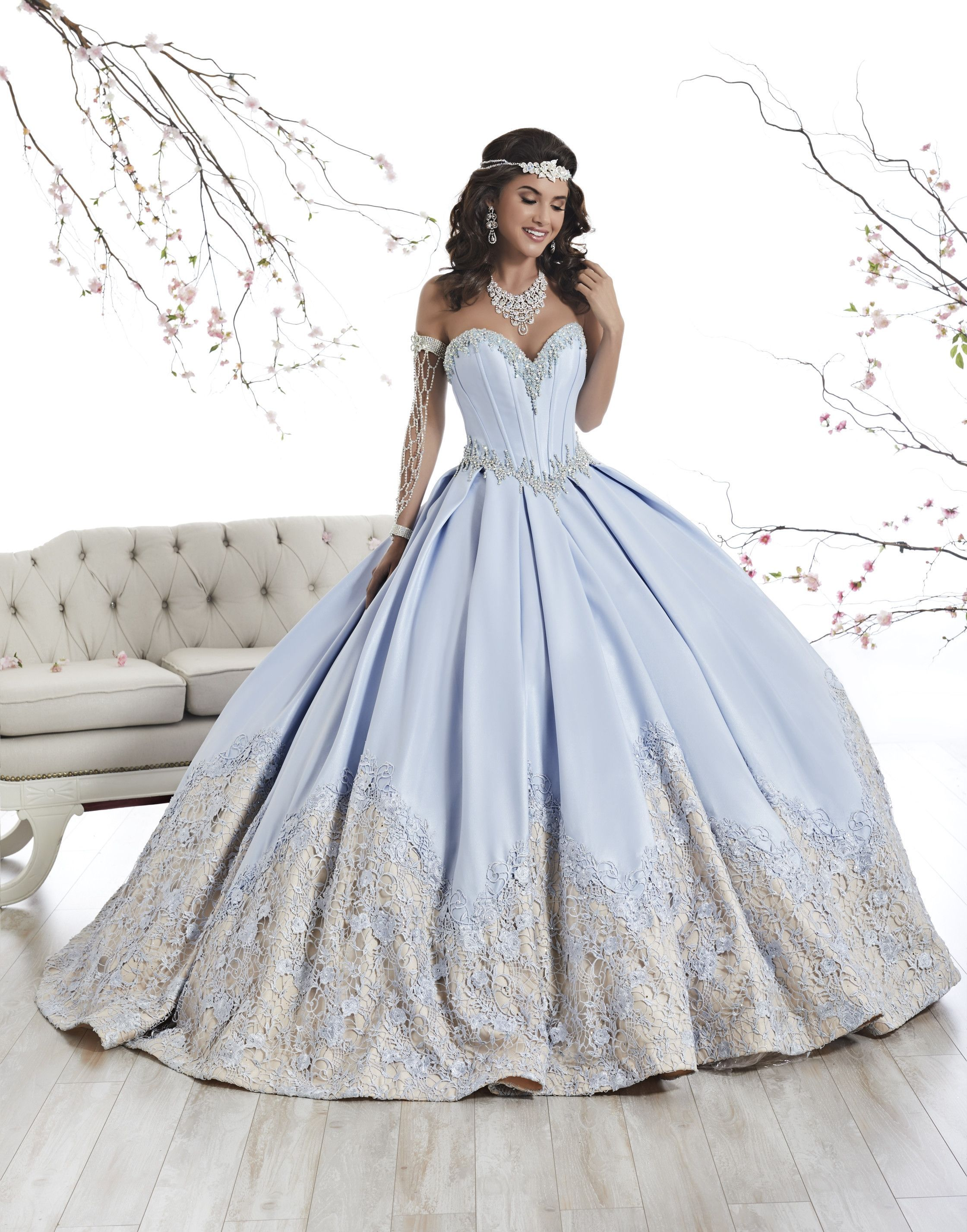 0befe257718 Strapless A-line Satin Quinceanera Dress by House of Wu 26874