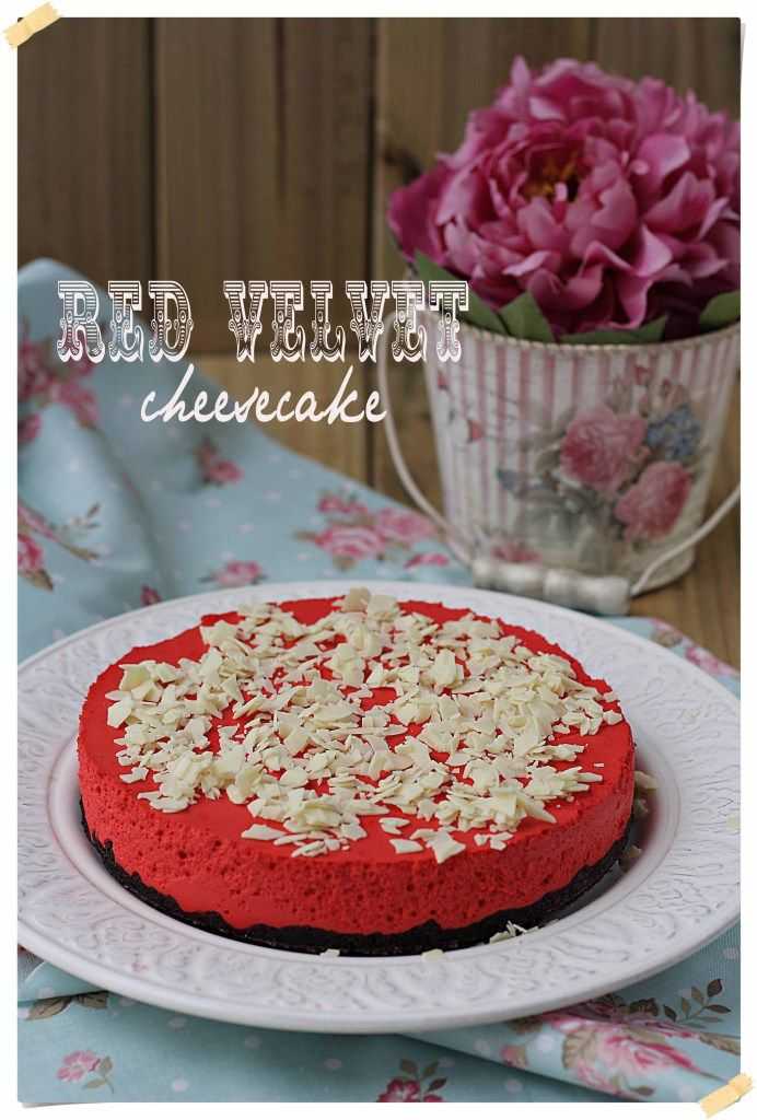 Red Velvet Cheesecake {by Paula, Con las Zarpas en la Masa} #redvelvetcheesecake