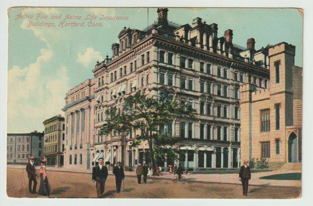 Unused Postcard Aetna Fire And Life Insurance Building Hartford