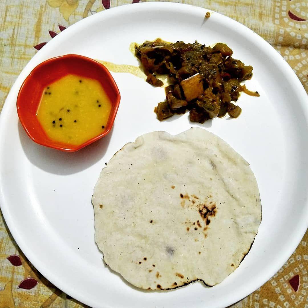 Dinner chapatifish fry & mango daal . . . . bengalifood