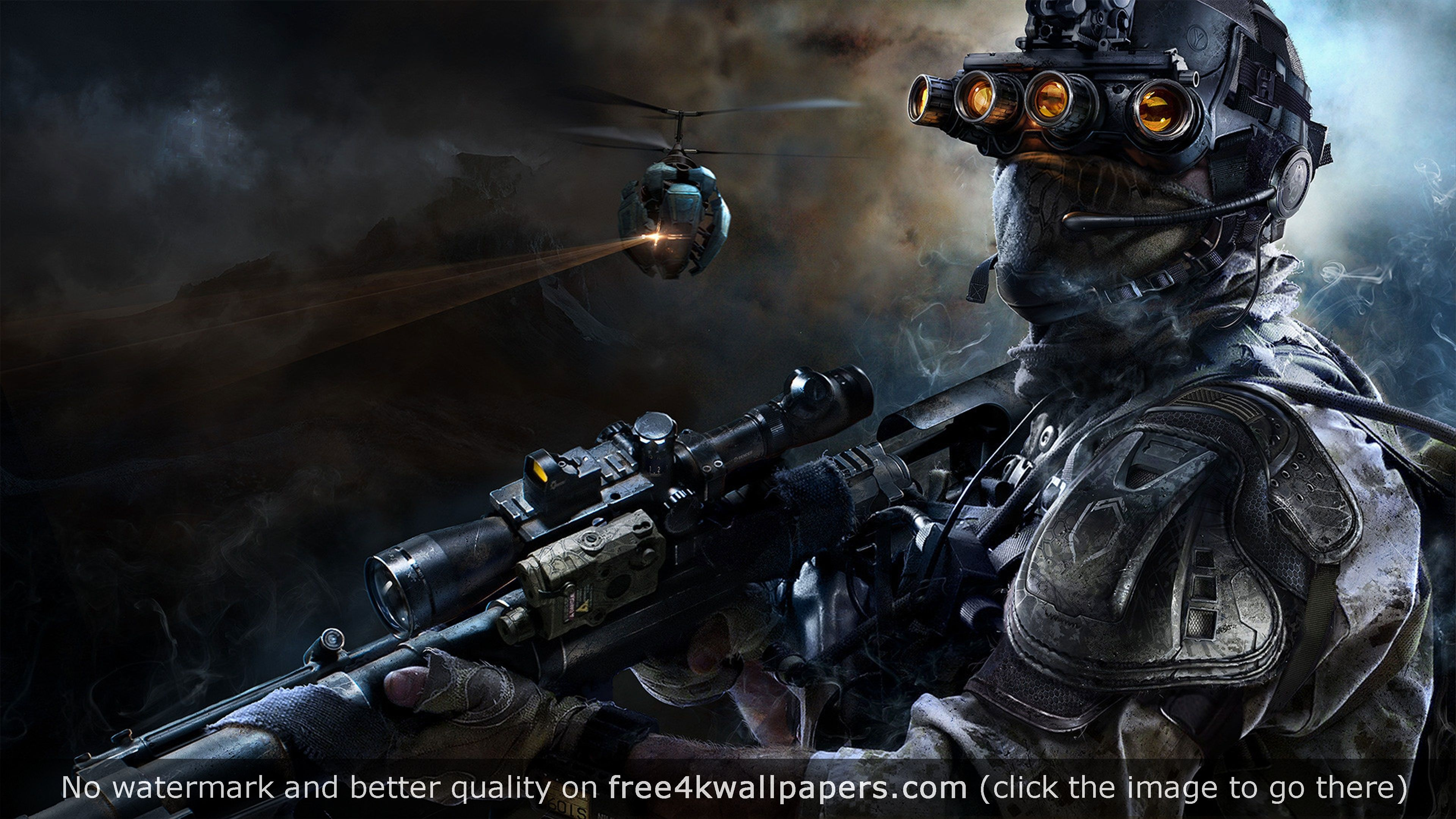 Sniper Ghost Warrior 4K wallpaper Warrior 3, Warrior 1