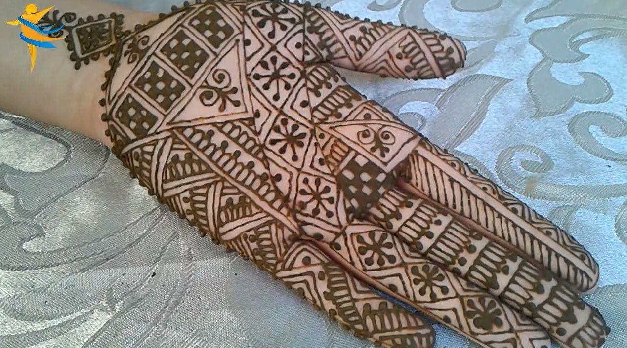 رسمة بالحناء مغربية فاسية من الطراز الاصيل من سلسلة دروس تعليم النقش بالحناء Simple Mehndi Designs Hand Henna Mehndi Designs