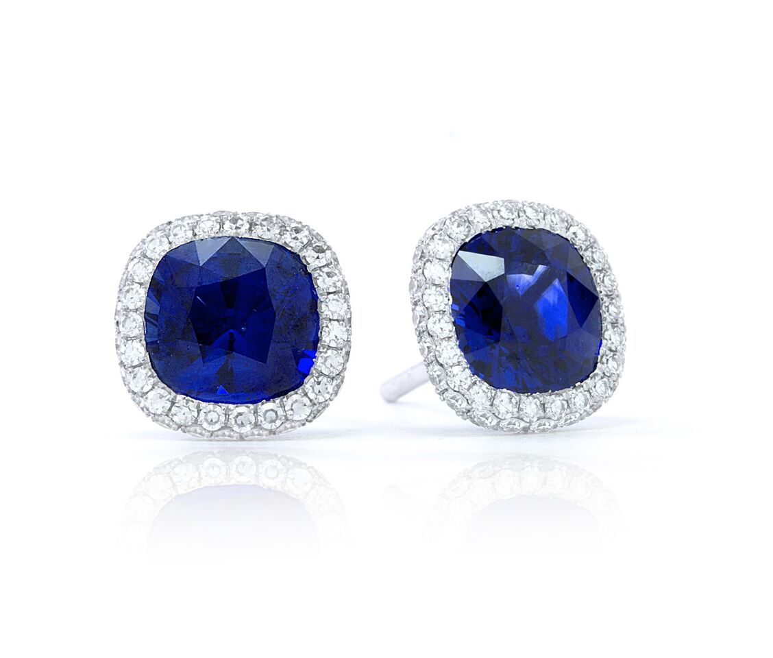 #jewelry #finejewelry #diamonds #sapphire #earrings #luxury #martinkatz  #martinkatzjewels