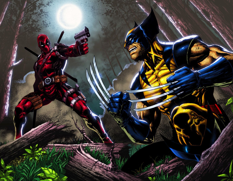 Deadpool Fan Art. (Deadpool VS Wolverine) By