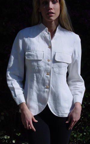 Giorgio Armani jacket,   This white jacket is 100% linen.