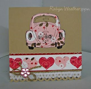 kit: love bug - kit can be found at www.unitystampco.com -  unity stamp company - card created by robyn weatherspoon