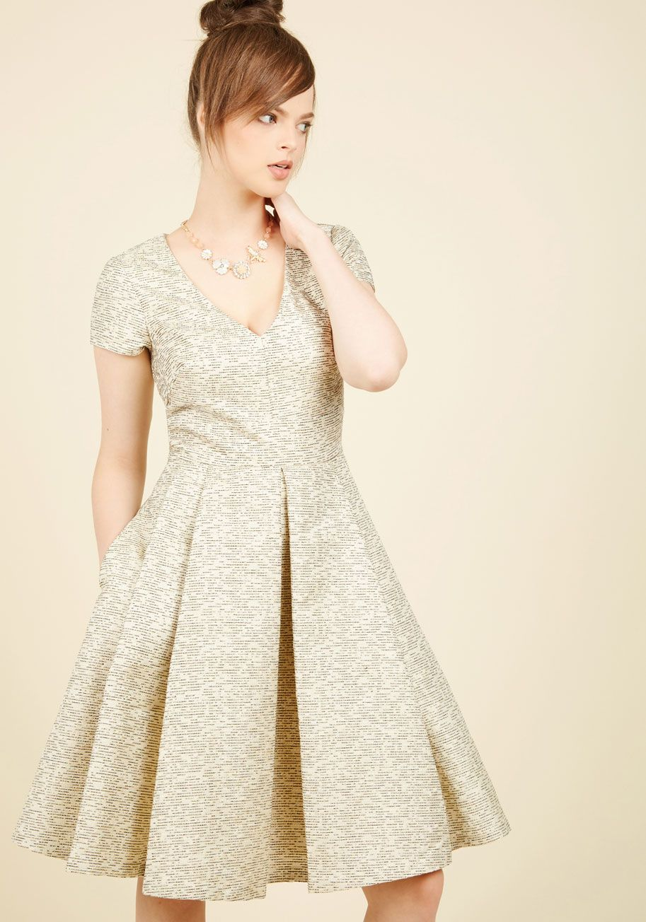 A place in my heartfelt fit and flare dress gold solid special