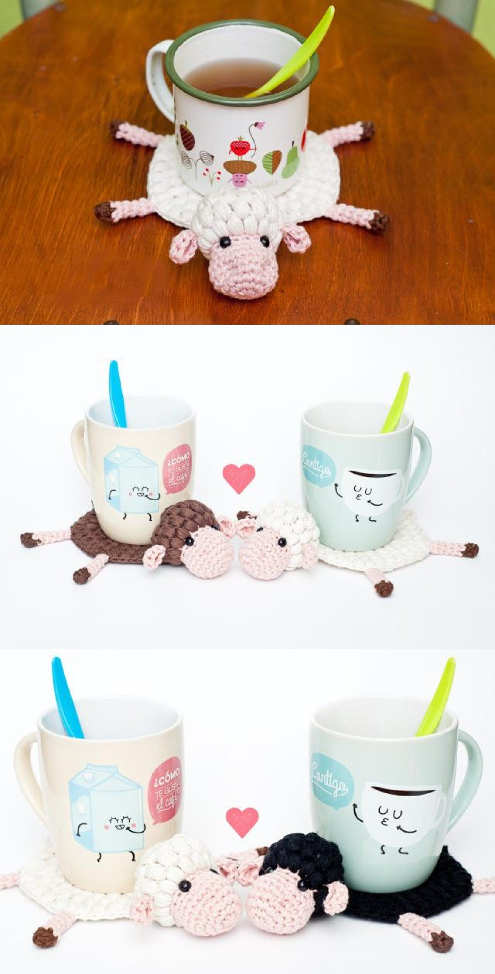 Crochet Sheep Coasters | schaf | Pinterest | Tejido, Ganchillo y Manta