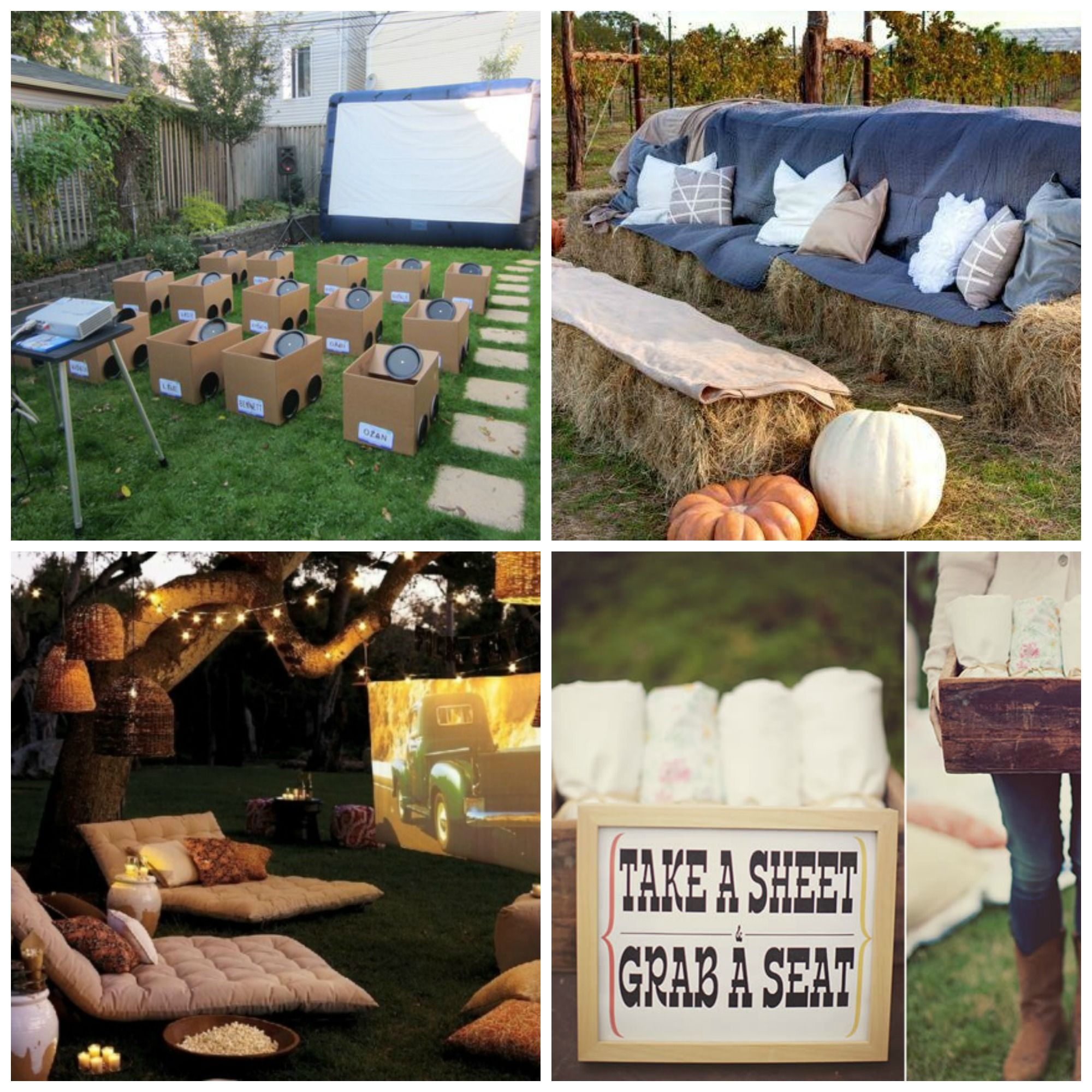 how to host a backyard movie party backyards look at and collage
