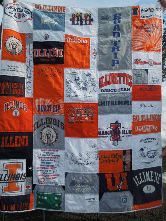 Throw Size T-Shirt Quilt- Custom Order | Shirt quilts, Etsy and ... : t shirt quilt order - Adamdwight.com
