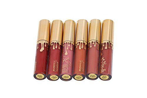 6 Stück Lippenstifte Liquid Matt Lip Gloss Dauerhaft Lip Liner Lippen Make up…