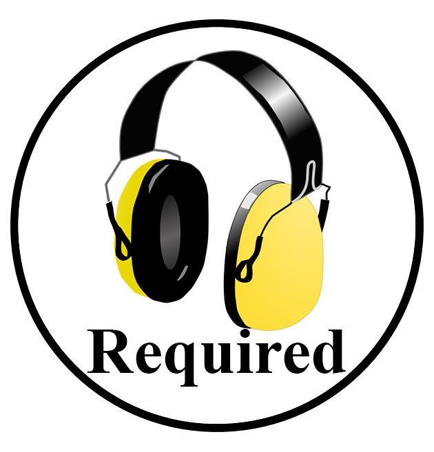 Hearing Protection Required Sign (Visual) - 1 Sign