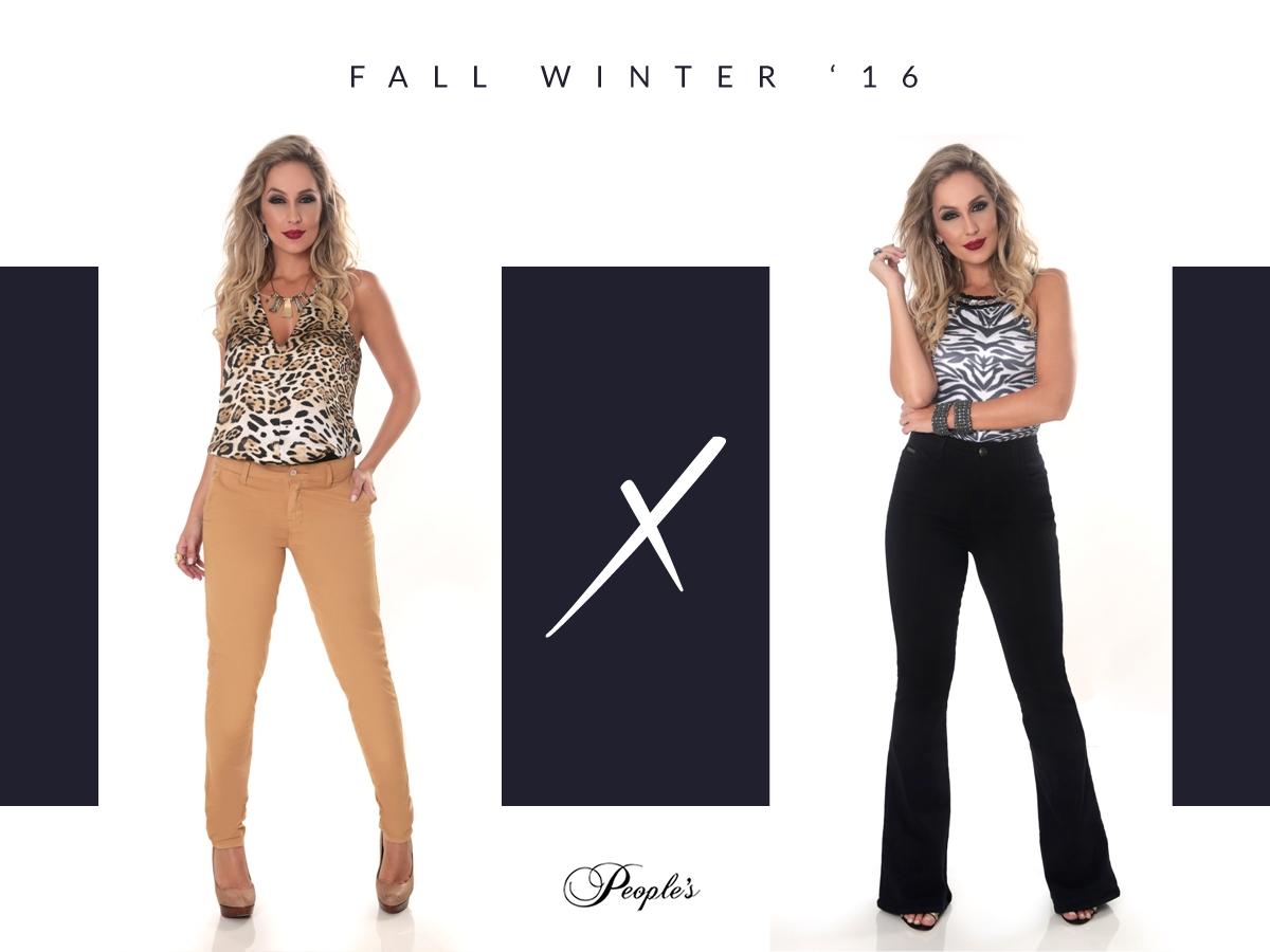 Qual dessas calças vocês preferem? #ThisOrThat