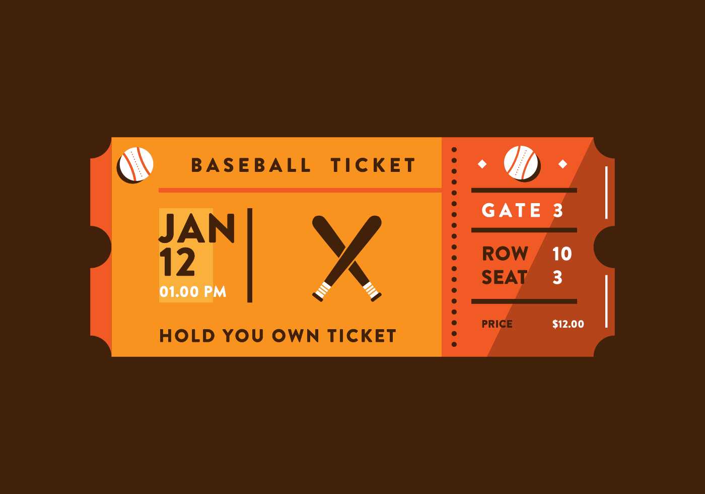Sporting Event Ticket Vector Sporting Event Tickets Event Tickets Design Ticket Design