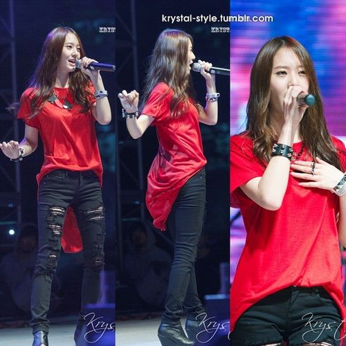 krystal f(x) | F(x) Stage Outfit | Stage outfits Krystal ...