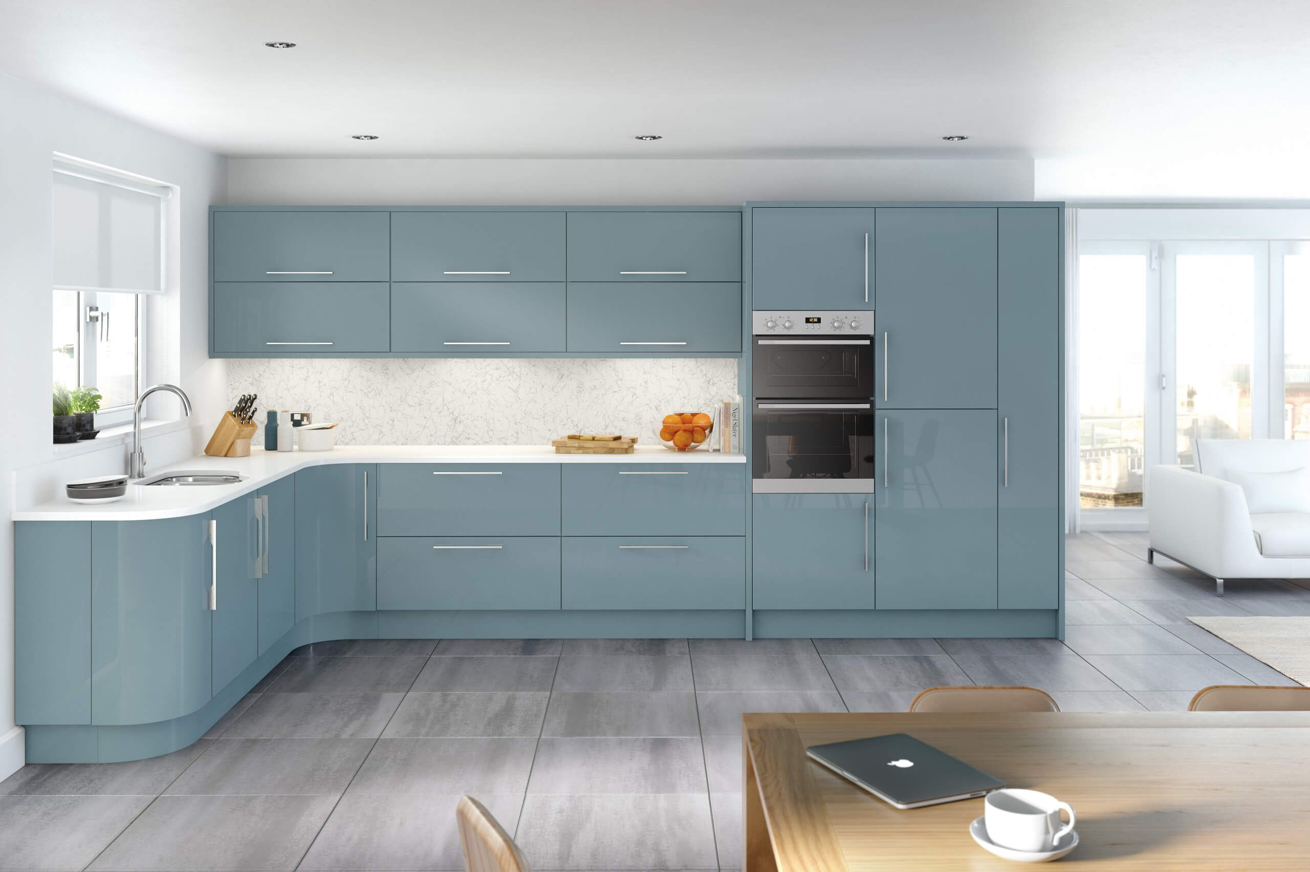 7 Ways To Master Pastel Blue At Home Nonagon Style Blue Kitchen Interior Kitchen Design Trends Interior Design Kitchen