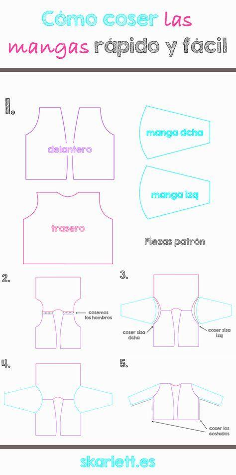 El método más fácil del mundo para coser unas mangas | Pinterest ...