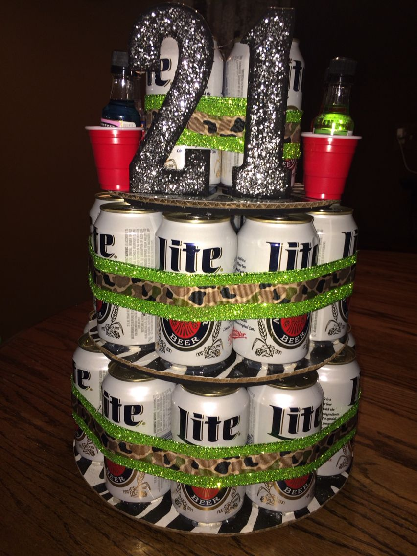 Beer cake I made my boyfriend for his 21st birthday