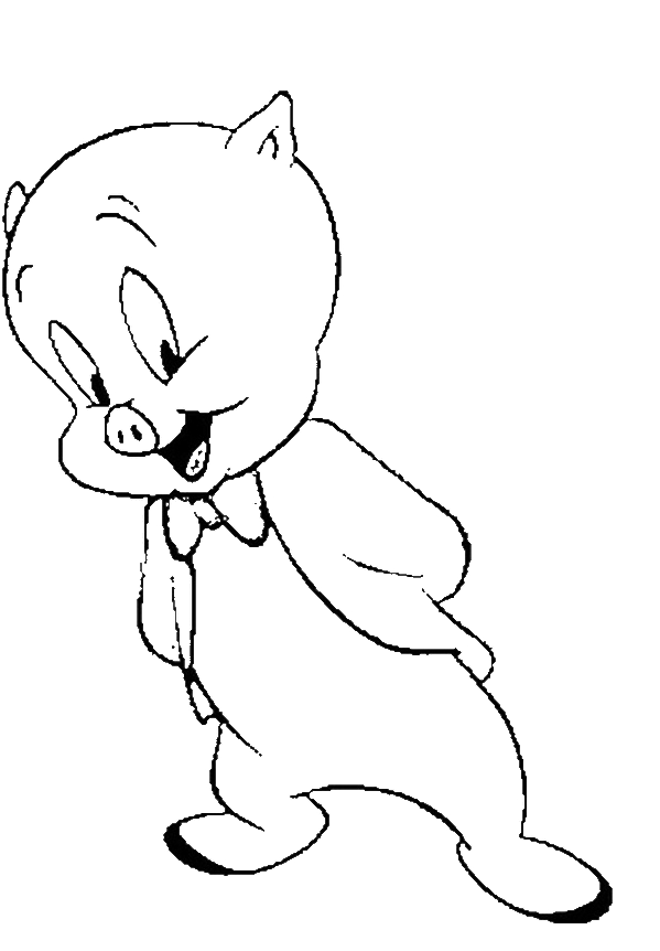 Cute Porky Pig Looney Tones Coloring Pages Looney Toones Coloring Pages Kidsdrawing Free Coloring Halloween Coloring Animal Coloring Pages Coloring Pages
