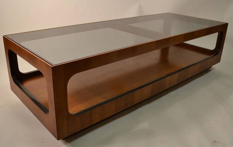 Lane Smoked Glass Top Coffee Table From A Unique Collection Of