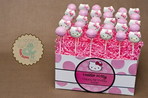 Hello Kitty Cake Pops next years birthday theme Hello Kitty