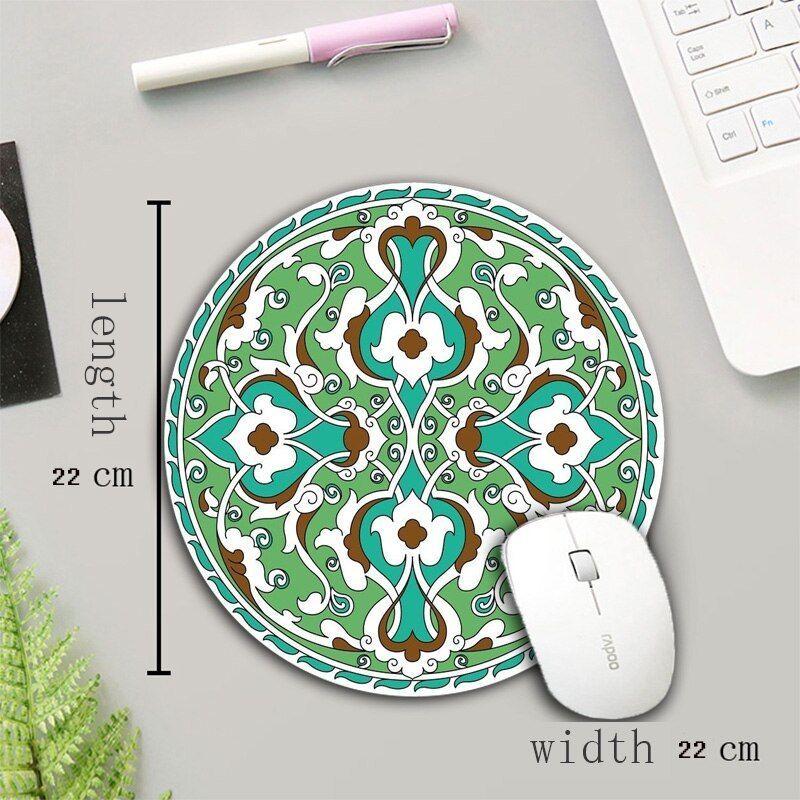 Xgz New Pattern 22x22 Cm Round Mouse Pad Rubber Carpet Office Desktop Pad Mat Persian Carpet Mousepad Game In 2020 Desktop Pads Rubber Carpet Office Desktop