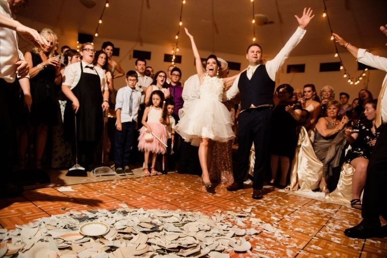 Breaking The Plates Greek Wedding Victoria BC Photos By FunkyTown Photography