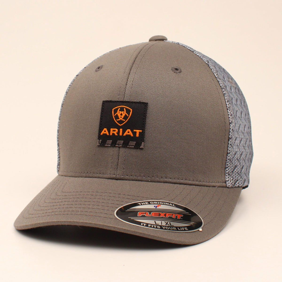 109a0521ef819 Ariat Men s Grey Flexfit Ball Cap A300002406 in 2019