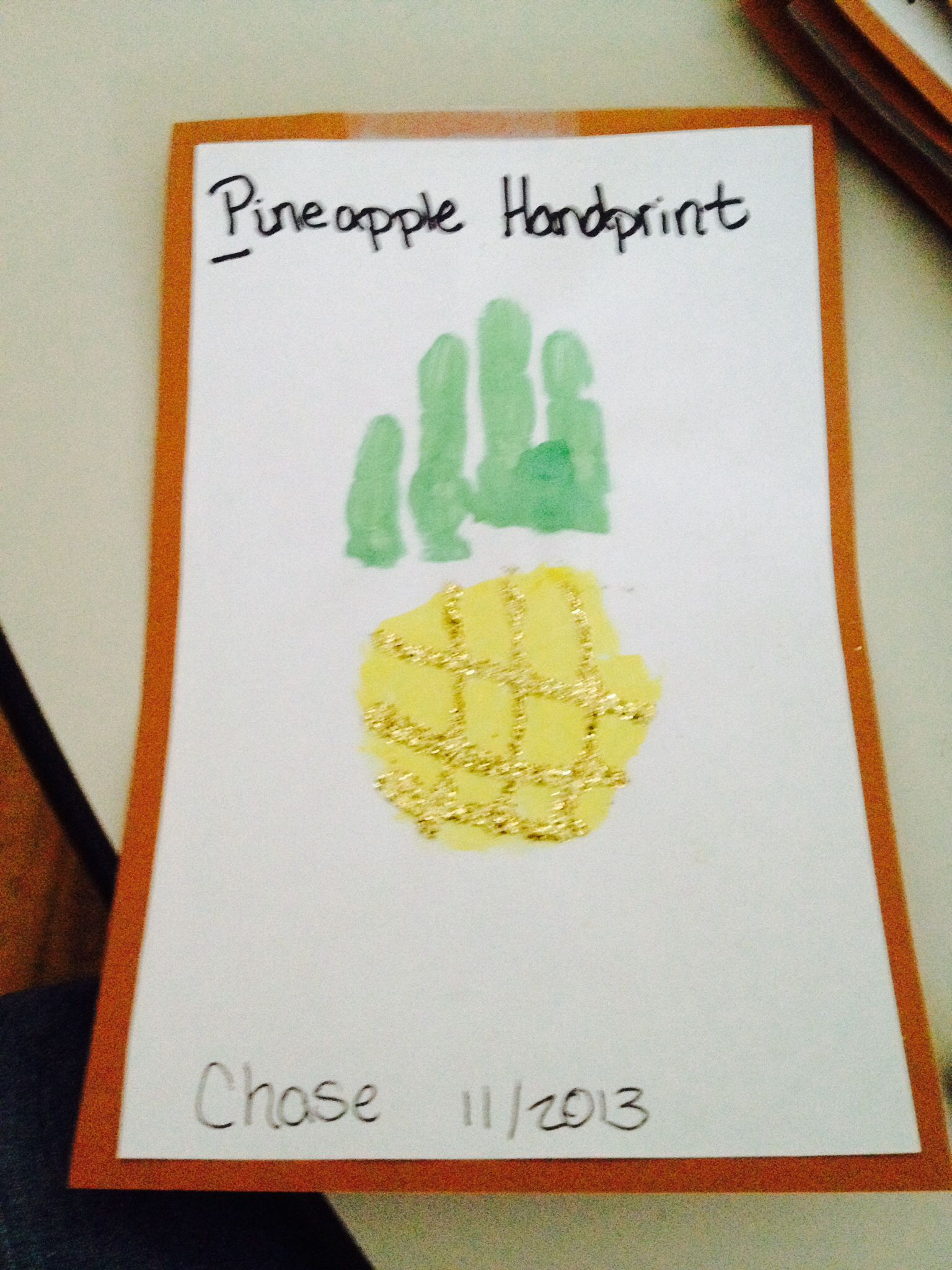 P is for pineapple art and crafts ideas for my for Letter p preschool crafts