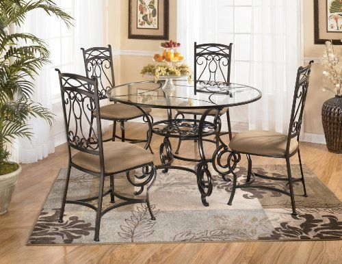 Bianca Glass Dinette Set By Signature Design By Ashley 625 65