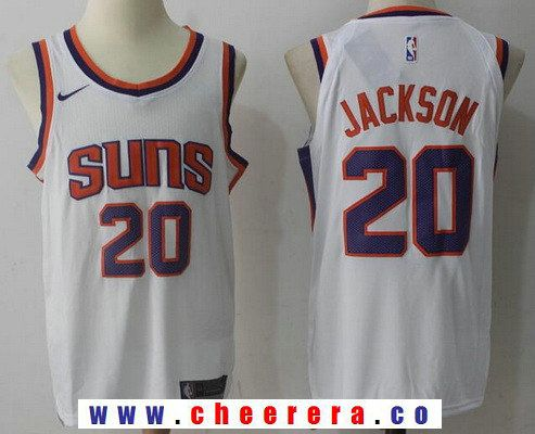642030c12 Men s Phoenix Suns  20 Josh Jackson New White 2017-2018 Nike Swingman  Stitched NBA Jersey
