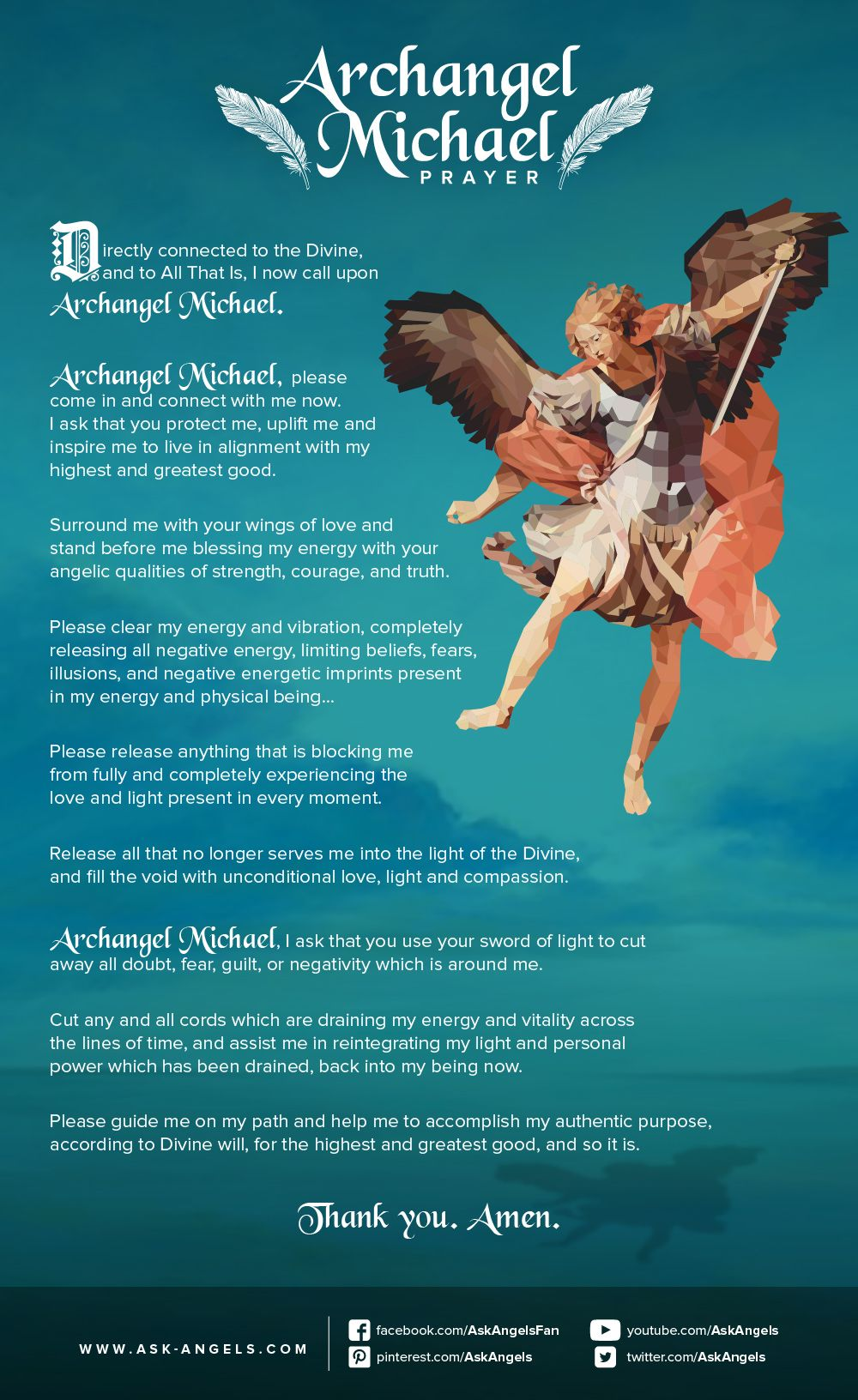archangel michael prayer spirituality infographics