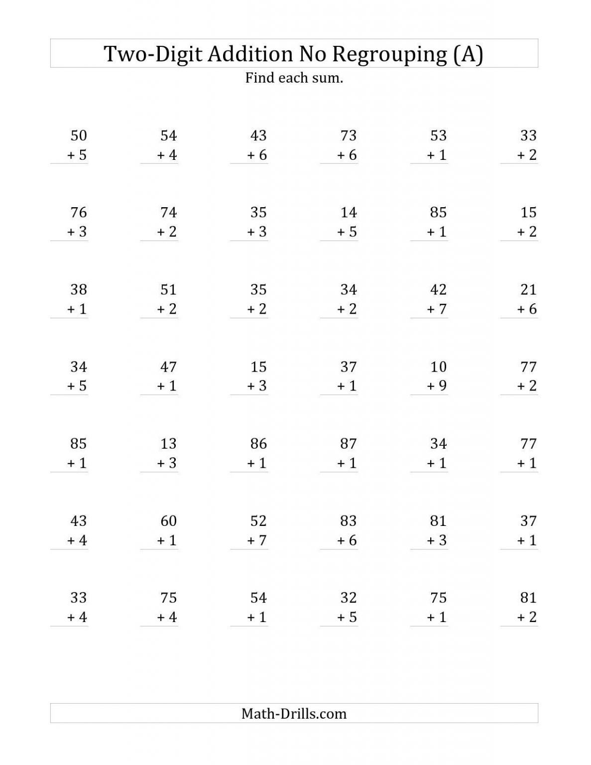 5 Free Math Worksheets First Grade 1 Subtraction Subtracting From Whole Ten Apocalomegaproducti Addition Worksheets Math Fact Worksheets Free Math Worksheets