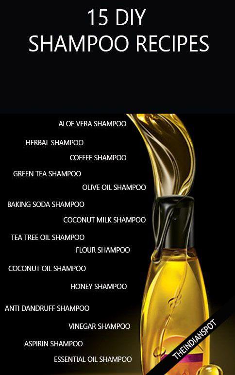 15 BEST HOMEMADE NATURAL AND ORGANIC SHAMPOO RECIPES FOR EVERY HAIR TYPE : HAIR LOSS, DRY HAIR, OILY HAIR, DANDRUFF, HAIR GROWTH.