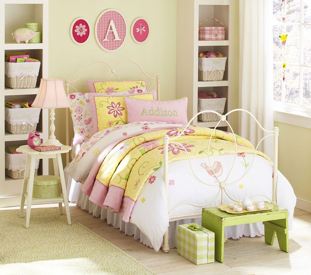picturesque design kid bedroom ideas. Colorful Kids Bedroom Design Collections by Pottery Barn  Allie Collection bedroom vintage kids decoration with floral embroidery